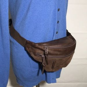 James Campbell Brown Faux Suede Waist BeltPack Bag